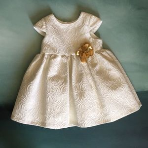 Pippa And Julie Formal Dress Gold Rose 24mo
